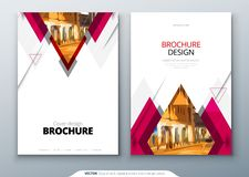 Brochure template layout design. Corporate business annual report, catalog, magazine, flyer mockup. Creative modern royalty free illustration