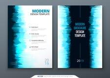 Brochure template layout design. Corporate business annual report, catalog, magazine, flyer mockup. Creative modern. Bright concept stock illustration