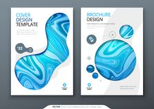 Brochure template layout design. Corporate business annual report, catalog, magazine, flyer mockup. Creative modern. Bright concept with marble background stock illustration