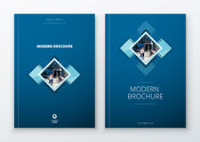 Brochure template layout design. Dark blue. Corporate business annual report, catalog, magazine, flyer mockup. Creative Royalty Free Stock Photography