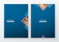 Brochure template layout design. Dark blue. Corporate business annual report, catalog, magazine, flyer mockup. Creative Royalty Free Stock Photos