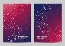 Brochure template layout design. Geometric pattern with connected lines and dots stock photo