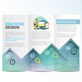 Brochure. Template Layout design template Stock Images