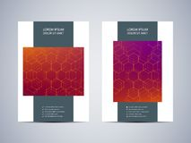 Brochure template layout, flyer, cover, annual report, magazine in A4 size. Structure of molecular particles and atom Royalty Free Stock Photography