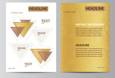 Yellow brochure template Royalty Free Stock Photography