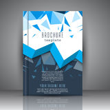 Brochure template with low poly design Royalty Free Stock Photo