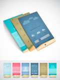 Brochure and template for mobile user interface. Stock Photos