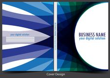 Business report cover background design. Brochure template and report cover for your business design royalty free illustration