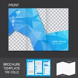 Brochure template tri fold Stock Images