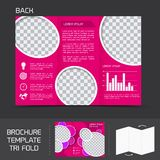 Brochure template tri fold Royalty Free Stock Photos