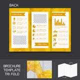 Brochure template tri fold Stock Photos