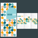 Brochure template whit flat icons. Blue brochure template whit flat icons Stock Image