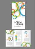 Brochure triple d'affaires Photo stock
