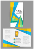 Brochure triple d'affaires Image stock