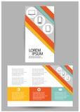Brochure triple d'affaires Photo libre de droits