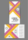 Brochure triple d'affaires Photographie stock