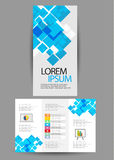 Brochure triple d'affaires Images libres de droits
