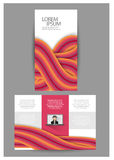Brochure triple d'affaires Photos stock