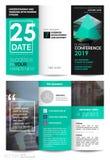 Brochure triple d'affaires Calibre créatif d'entreprise constituée en société pour la brochure ou l'insecte de pli d'essai illustration stock