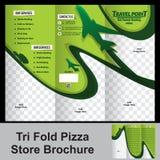 Brochure triple de magasin de trevel Photos libres de droits