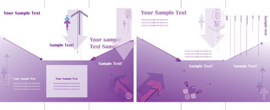 Brochure triple pourprée Photo libre de droits