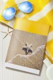 Brochure tropicale de vacances de voyage Photographie stock libre de droits