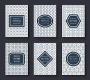 Brochure vector design templates with minimal classic vintage stripe patterns and labels vector illustration