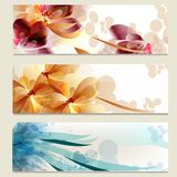 Brochure Vector Set In Floral Style Royalty Free Stock Photography