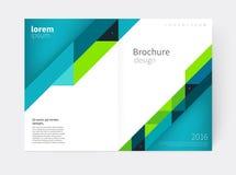 Brochure, vlieger, affiche, het malplaatje van de jaarverslagdekking Stock Illustratie