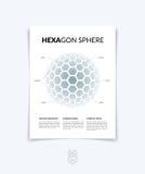 Brochure, vlieger met 3D gebied van geometrische vormen Vectorillus Stock Foto's