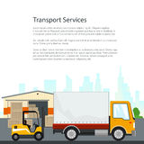 Brochure Warehouse and Transportation Services Royalty Free Stock Photography