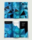 A4 brochureblauw Stock Foto's