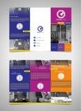 Brochuremalplaatje 01 Royalty-vrije Stock Foto's