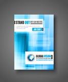 Brochuremalplaatje, Vliegerontwerp of Depliant-Dekking Stock Afbeelding