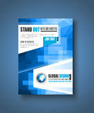 Brochuremalplaatje, Vliegerontwerp of Depliant-Dekking Stock Afbeeldingen