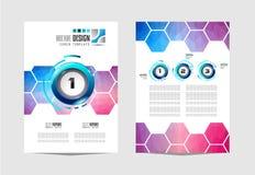 Brochuremalplaatje, Vliegerontwerp of Depliant-Dekking voor bedrijfsdoeleinden Stock Foto