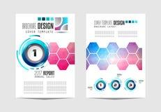 Brochuremalplaatje, Vliegerontwerp of Depliant-Dekking voor bedrijfsdoeleinden Stock Afbeeldingen