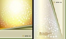 Brochuremalplaatjes, abstracte achtergronden Royalty-vrije Stock Fotografie