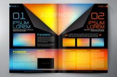 Brochureontwerp twee pagina'sa4 malplaatje Stock Foto's