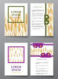Brochures with backgrounds on Wheat border plant patterns. Brochures with backgrounds on Wheat vector border plant patterns. Vector illustration Stock Photo