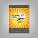 Brochures book or flyer with abstract pointer template Stock Photography