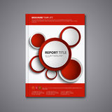 Brochures book or flyer with abstract red circles template Stock Images