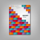 Brochures book or flyer with colored paper square mosaic template Royalty Free Stock Images