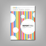 Brochures book or flyer with colored stripes and circles template Royalty Free Stock Photo