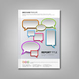 Brochures book or flyer with colorful abstract speak bubbles Royalty Free Stock Image