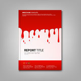 Brochures book or flyer with spilled red color template Stock Photo