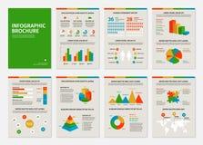 Brochures colorées des affaires A4 avec infographic Images libres de droits