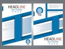 Brochures de conception de calibre avec l'endroit pour votre photo échantillon A4 Photo stock