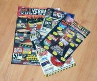 Brochures de feux d'artifice photo stock