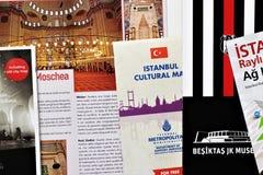 Brochures de la Turquie Utile pour préparer un voyage photo libre de droits